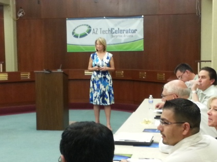 Mayor at TechCelerator on Nogales Tour 2013