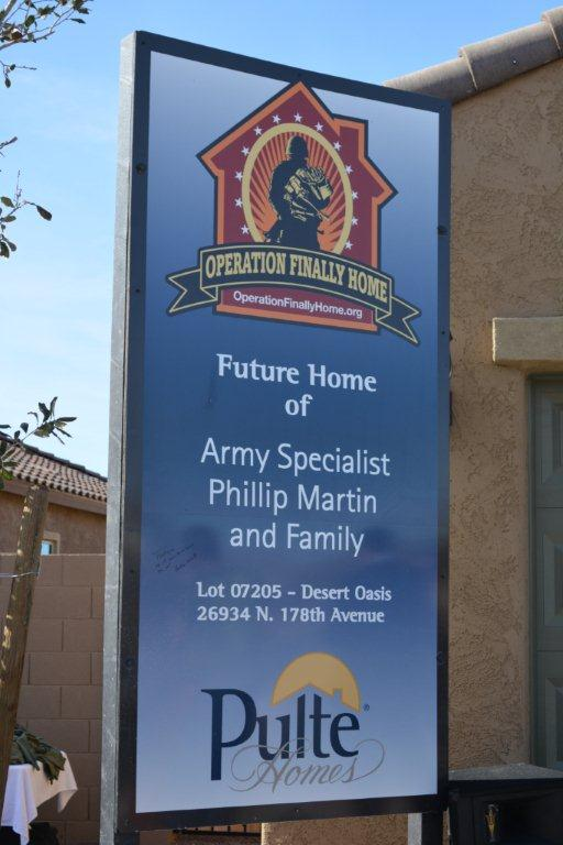 Pulte Homes and Valley contractors partner to provide beautiful homes to veterans.