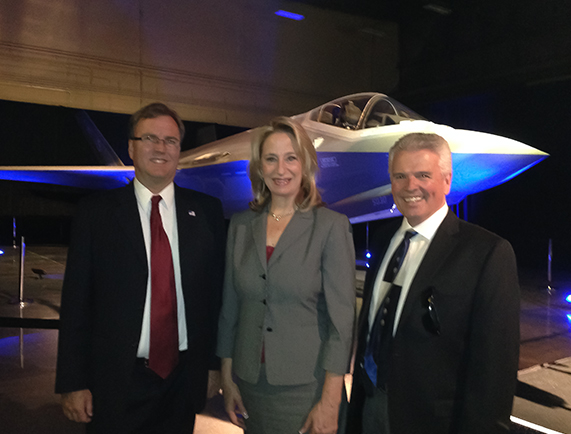 Councilman Todd Tande and Vice Mayor Skip Hall joined me for the unveiling of the F35 at Luke AFB.