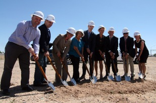 Vice-Mayor Hall, Councilwoman Villanueva and I were on hand with others to break ground on the new facility.
