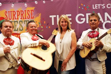 Mariachi band was a hit at the City booth
