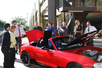 Torque Trends team displays e-Miata Roadster at Surprise City Hall
